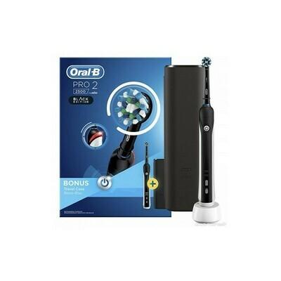 Oral-B Pro 2 2500 Black Edition Ηλεκτρική Οδοντόβουρτσα με Δώρο Θήκη Ταξιδίου