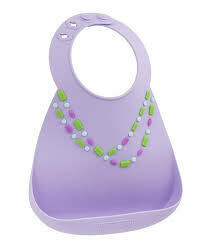 Makemyday Σαλιάρα σιλικόνης - Lilac - W/Jewels