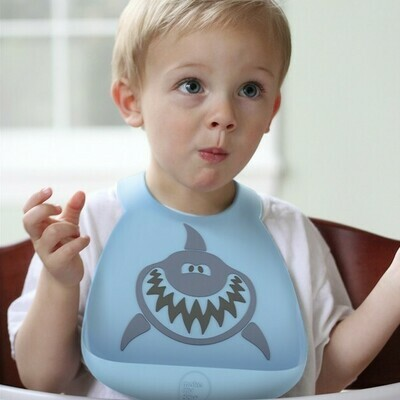 Makemyday Σαλιάρα σιλικόνης - Shark