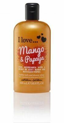 I Love Bubble Bath Αφρόλουτρο Mango & Papaya 500ml