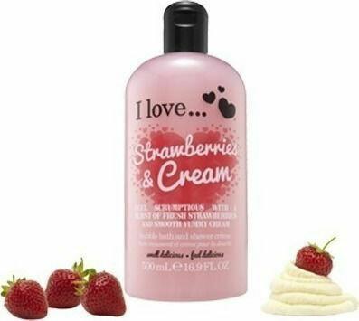 I Love Bubble Bath Αφρόλουτρο Strawberries & Cream 500ML
