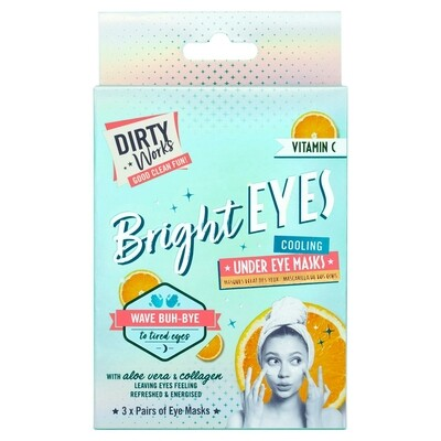 Dirty Works Bright Eyes! Brightening Under Eyes Masks, 3 sachets