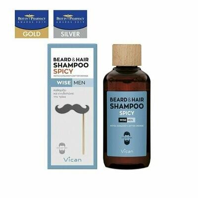 Vican Wise Men- Beard+ Hair Shampoo Spicy 200ml
