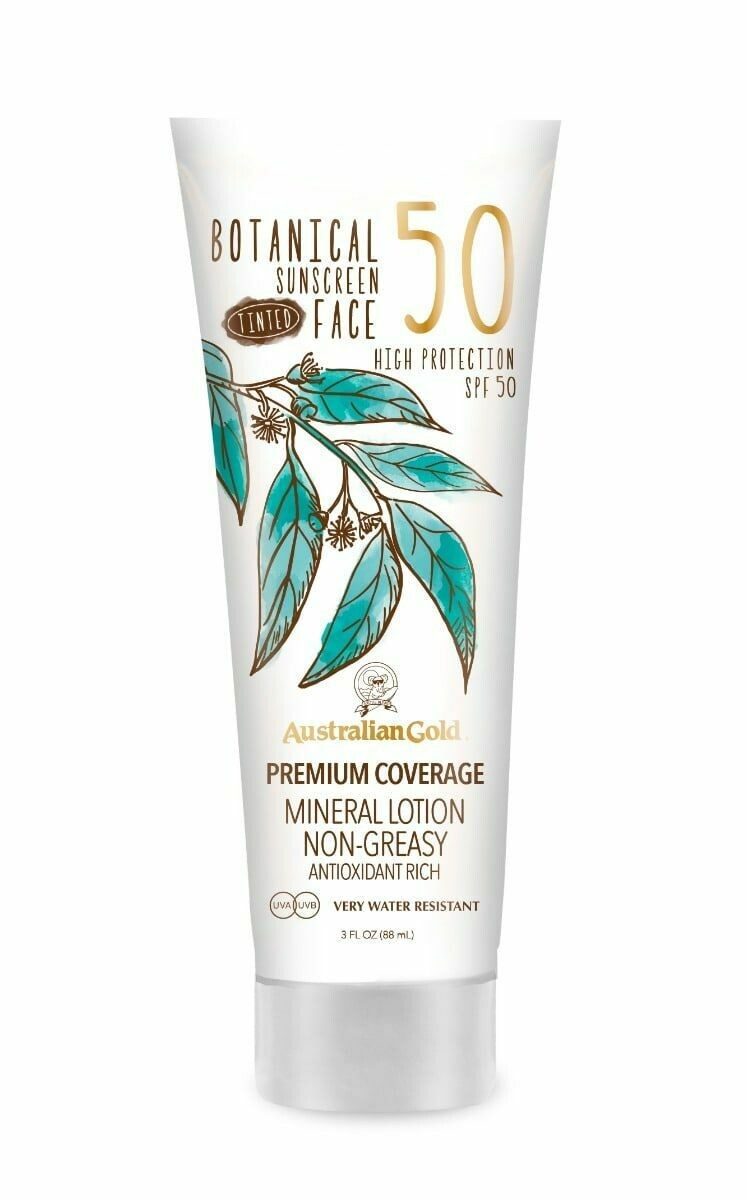 Australian Gold Botanical Botanical Spf 50 Tinted Face Lotion 90ml - Fragrance Free