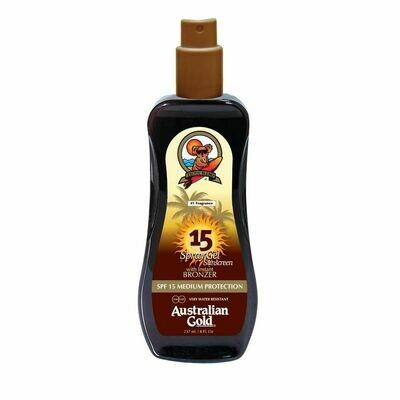 Australian Gold Botanical Spf 15 Spray Gel with Bronzer 237ml - Cocoa Dreams