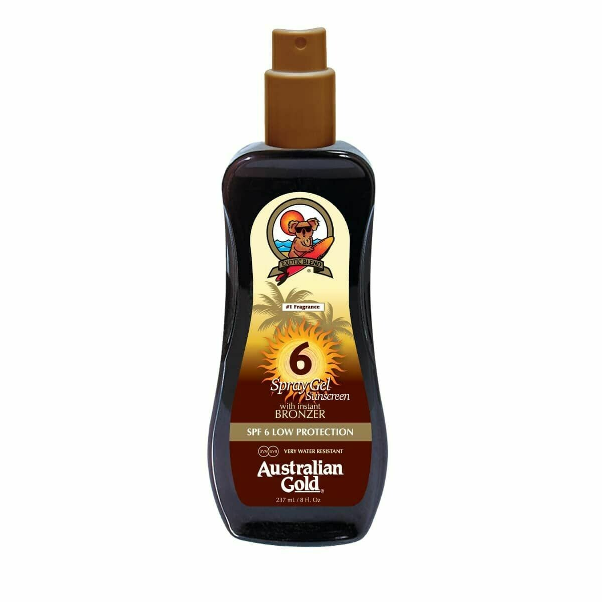 Australian Gold Botanical Spf 6 Spray Gel with Bronzer 237ml - Cocoa Dreams