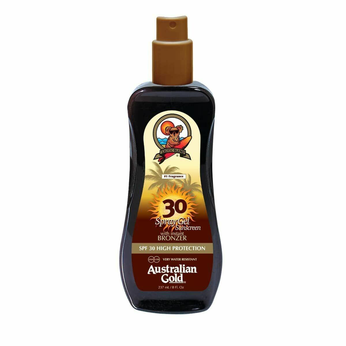 Australian Gold Spf 30 Spray Gel with Bronzer 237ml - Cocoa Dreams