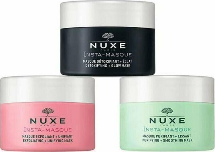 Nuxe Triple Face Masks Detoxifying - EXxfoliating - Purifying 3 X 15 ml