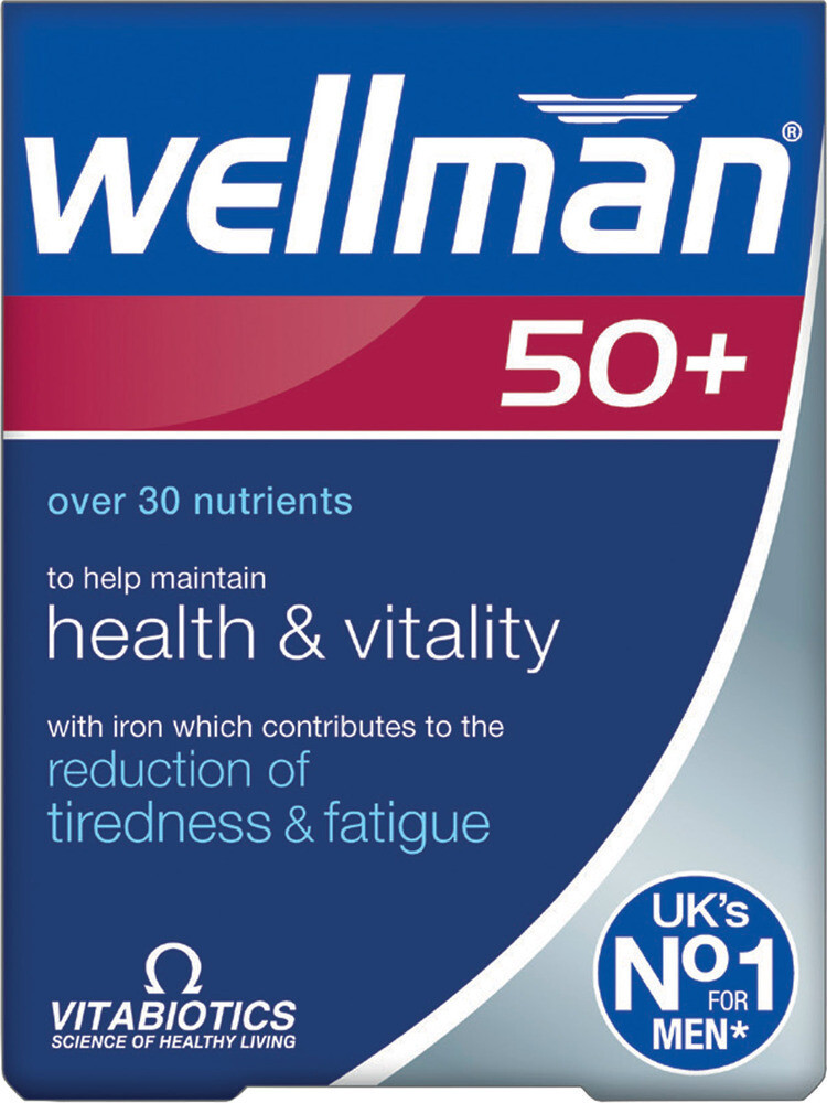 Vitabiotics Wellman 50+ 30caps