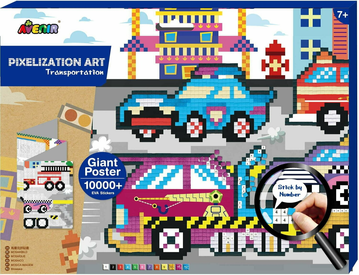 Pixelation Art  - Transportation