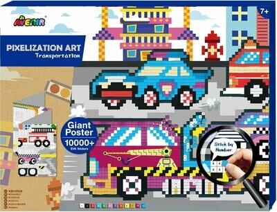 Pixelation Art  - Transportation