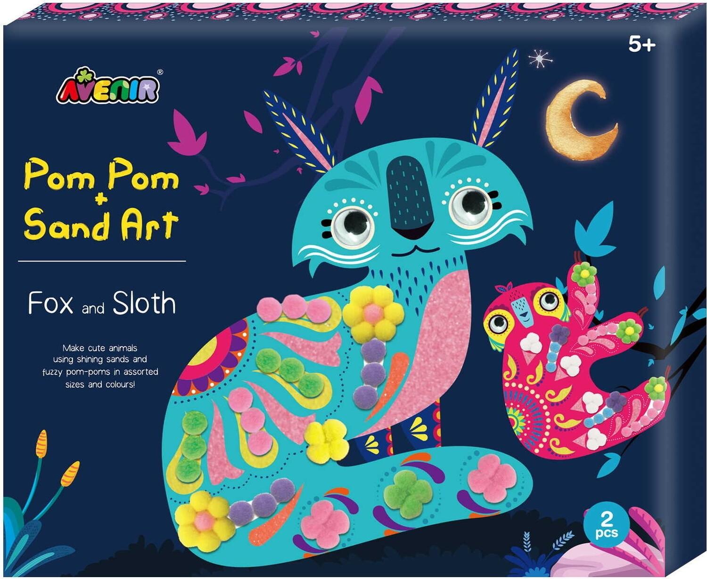 Sand & Pom Pom Art - Fox & Sloth