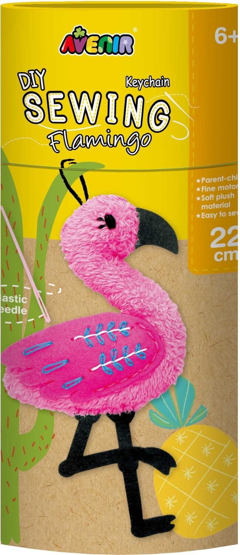 Sewing Keychain Flamingo