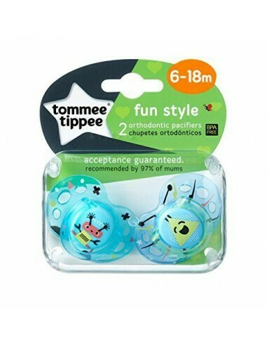6-18 Fun Style Orthodontic Soother X2 Boy