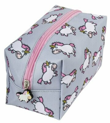 New Square Pencil Case - Chubby Unicorn