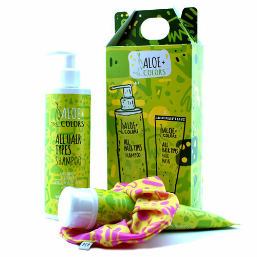 Aloe+Colors All Hair Type Shampoo & Hair Mask SET & ΔΩΡΟ Λαστιχάκι PCP