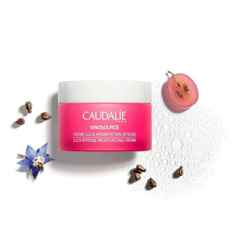 Caudalie Vinosource S.O.S. Intense Moisturizing Cream, Ενυδατική Κρέμα Προσώπου 50ml