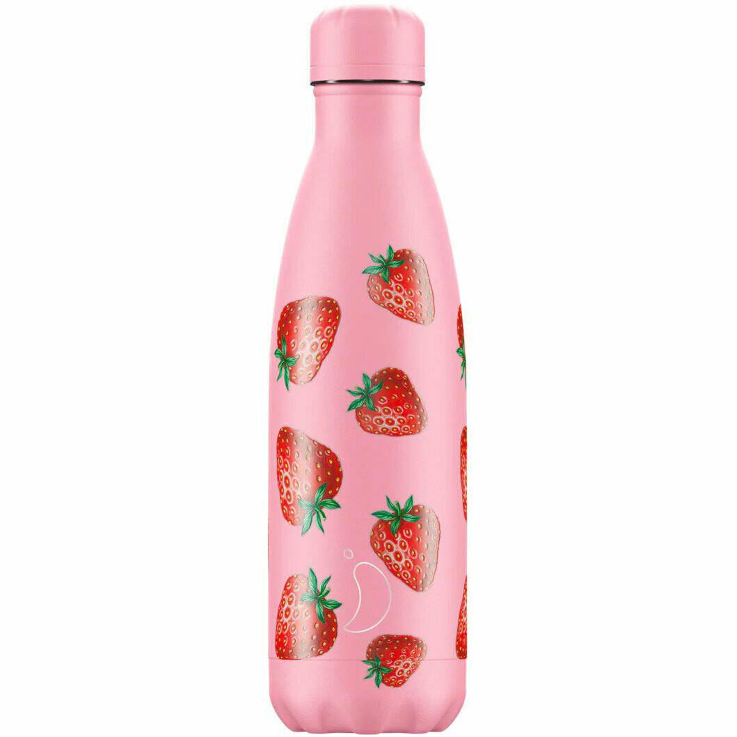 Chilly's Ανοξείδωτο Θερμός Strawberry 500ml