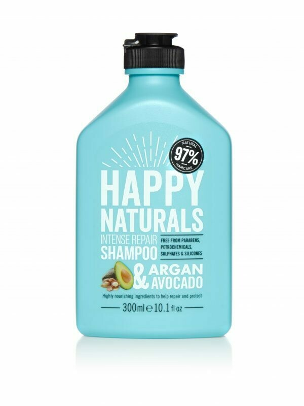 Happy Naturals Intense Repair Shampoo Argan & Avocado 300ml