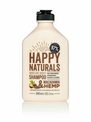Happy Naturals Everyday Moisture Shampoo Macadamia & Hemp 300ml