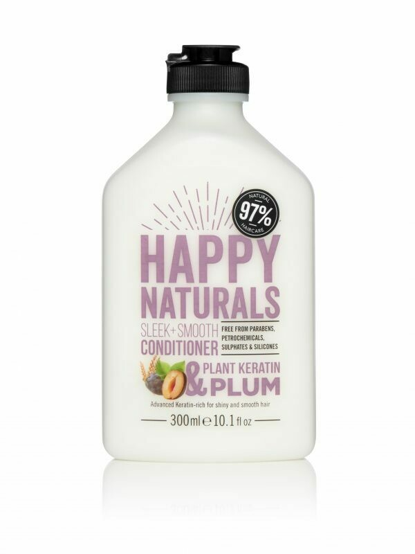 Happy Naturals Sleek + Smooth Conditioner Plant Keratin & Plum 300ml