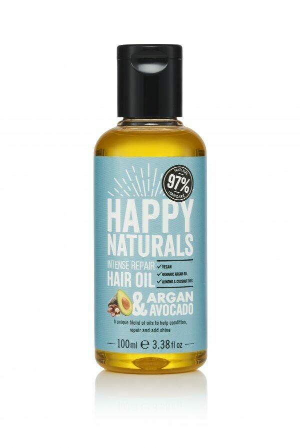 Happy Naturals Argan & Avocado Intense Repair Hair Oil 100ml