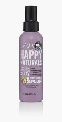Happy Naturals Plant Keratin & Plum 2-in-1 Heat Protection Spray 150ml