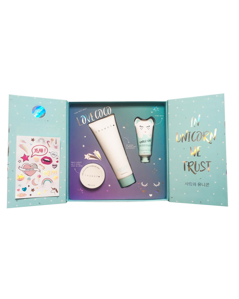 Inuwet Magic Stickers Box Καρύδα 250ml/60ml/80ml