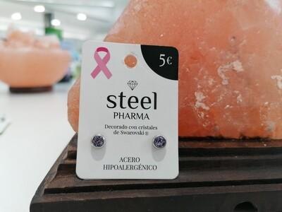 Steel Pharma Swarovski Earings Elsa Violet