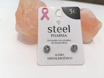 Steel Pharma Swarovski Earings Elsa Crisolite