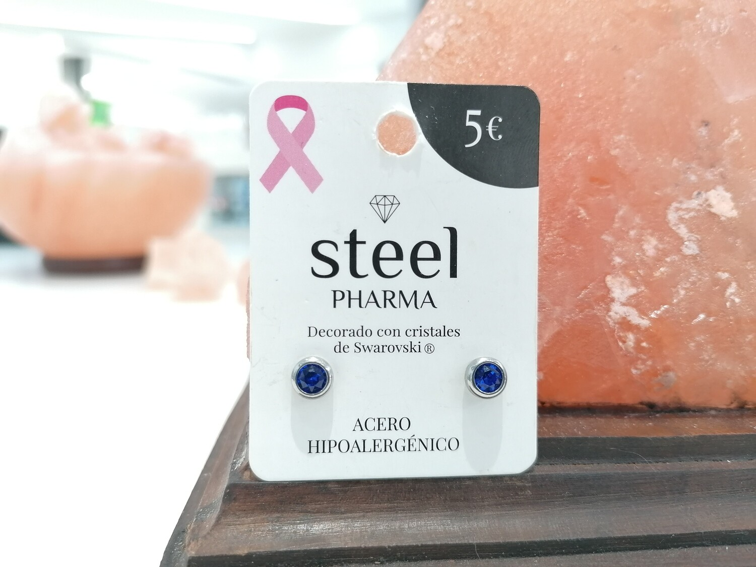 Steel Pharma Swarovski Earings Elsa Blue