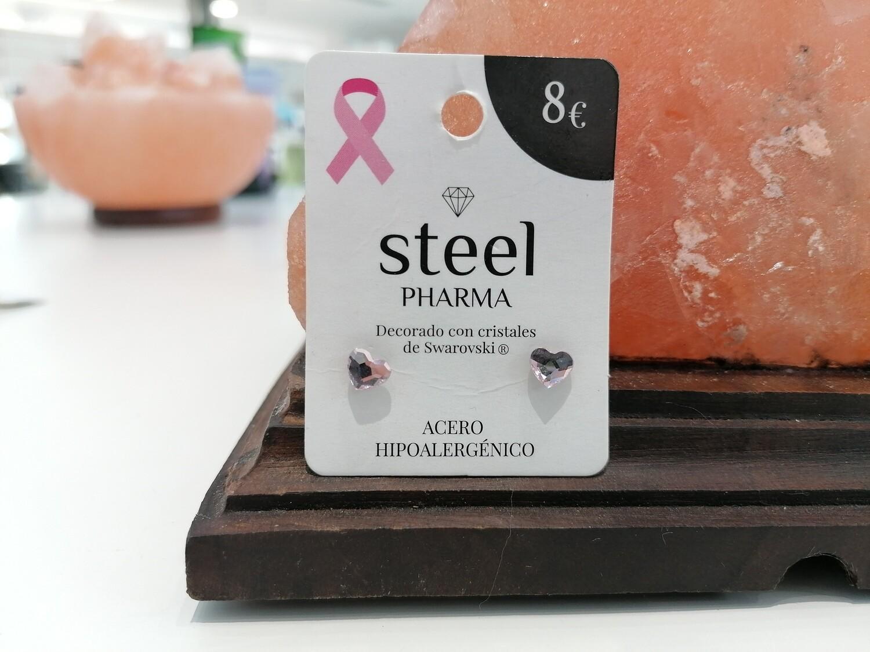 Steel Pharma Swarovski Earings Corazon Rosaline
