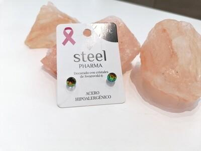 Steel Pharma Swarovski Earings Esfera Vitral