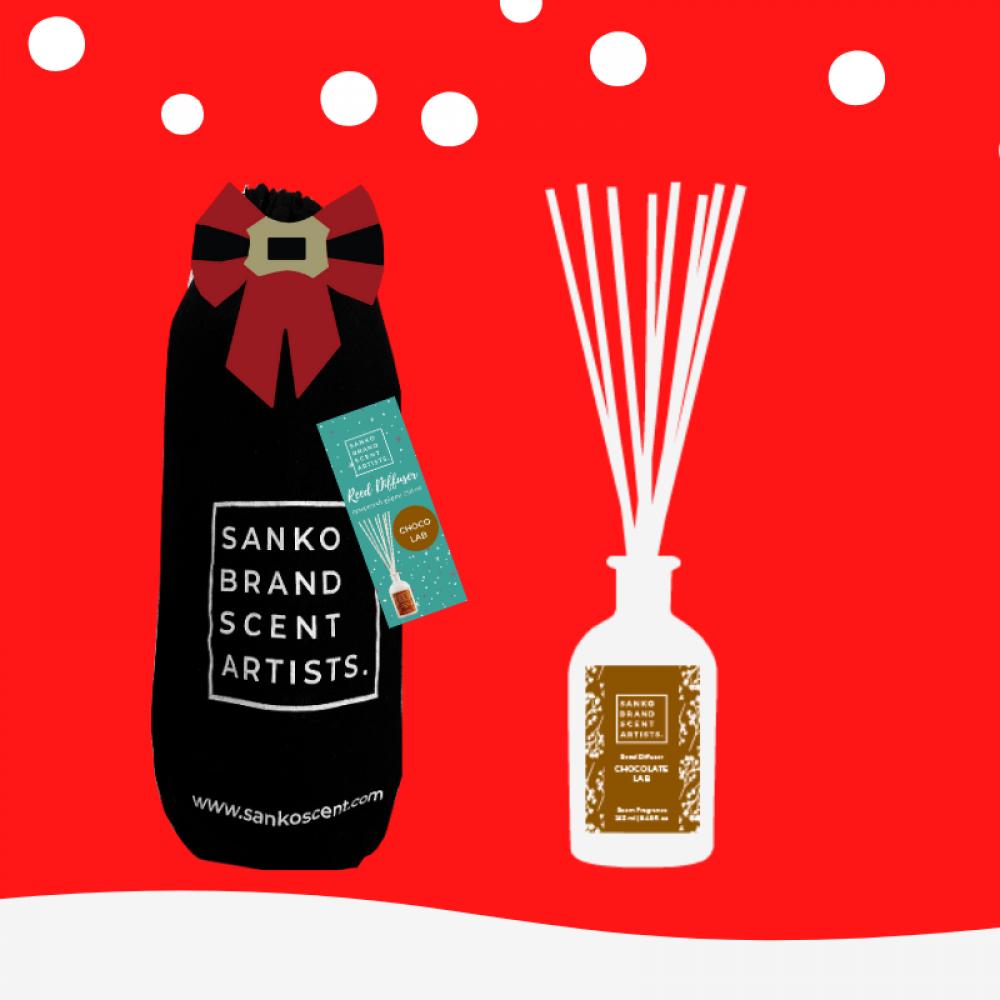 Sanko The Xmas Pouch Chocolate Lab Reed Diffuser αρωματικό χώρου 250 ml
