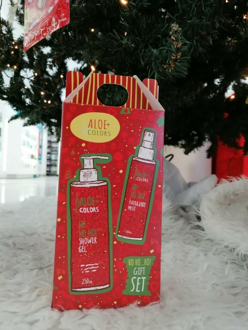 Aloe+Colors Gift Set Ho Ho Ho Shower Gel 250ml & Ho Ho Ho Hair&Body Mist 100ml