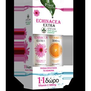 Power Health Echinacea Extra με Στέβια & Δώρο Vitamin C 500mg