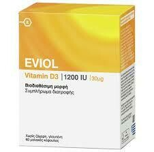 Eviol Vitamin D3 1200iu 30μg 60soft caps