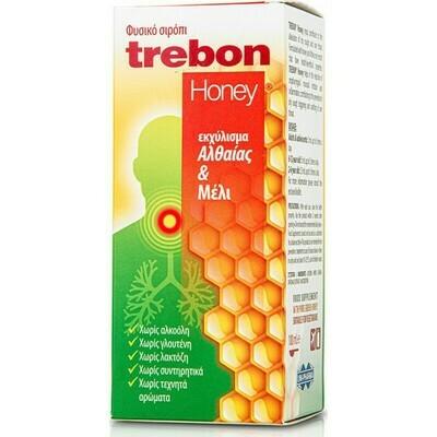 Trebon Honey Φυτικό Σιρόπι με εκχύλισμα Αλθαίας & Μέλι 100ml