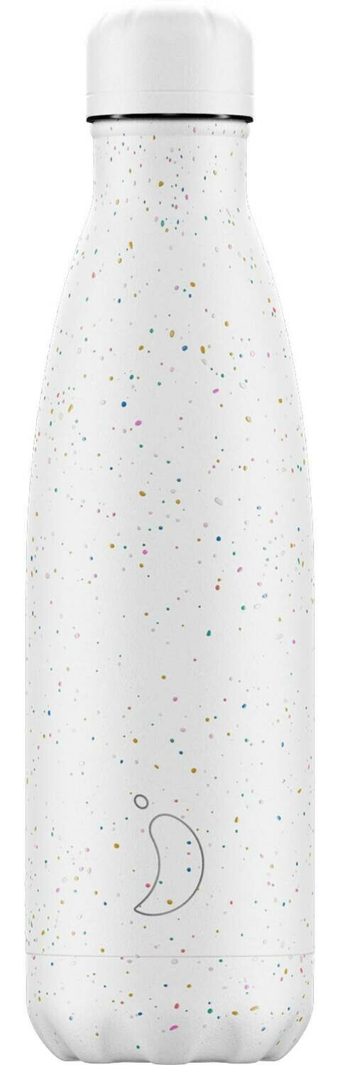 Chilly's Ανοξείδωτος Θερμός Speckled White 500ml