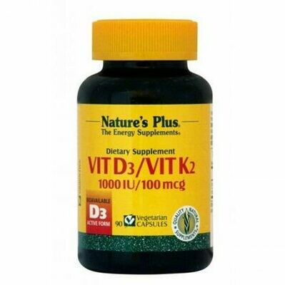 Natures Plus VIT. D3 1000IU-VIT. K2 100MCG 90caps