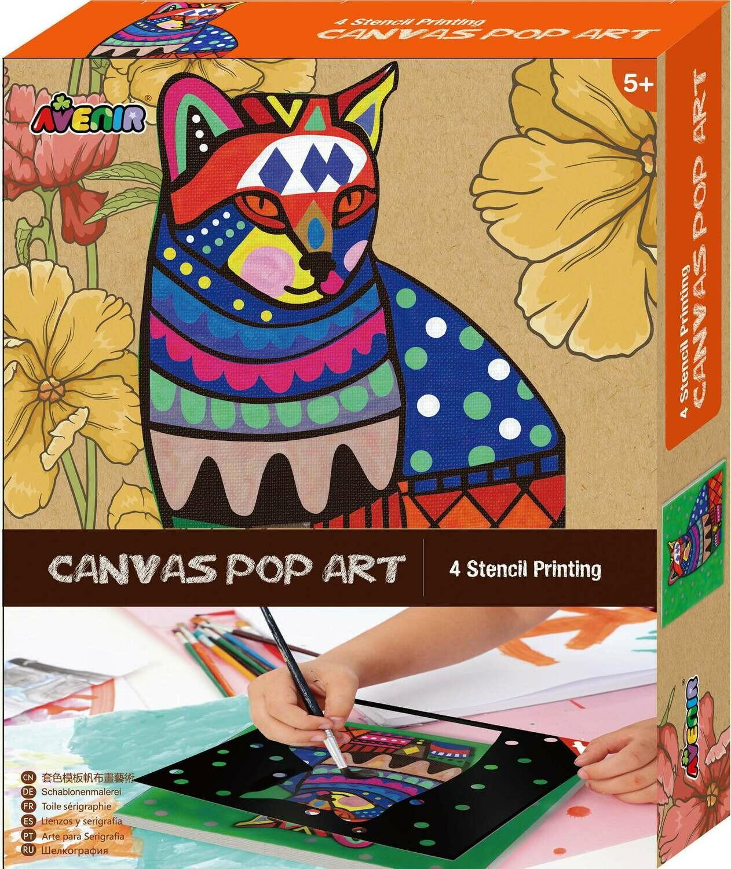 Canvas Pop Art  (Cat/Elephant/Unicorn/Tiger)