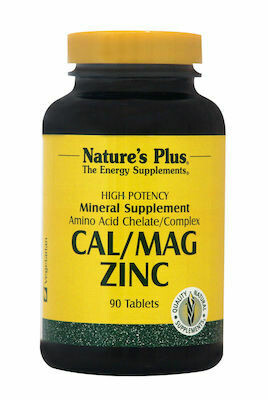 Natures Plus Cal-Mag-Zinc 1000/500/75mg 90tabs