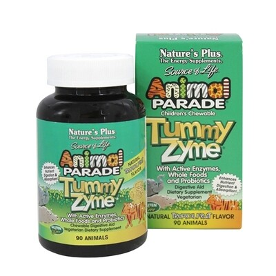 Natures Plus Animal Parade Tummy Zyme Chew. 90tabs