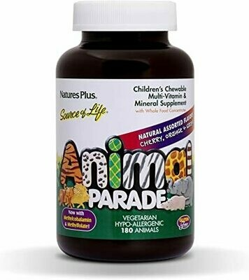 Natures Plus Animal Parade Assorted Chew. 90tabs