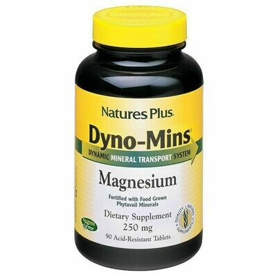 Natures Plus Magnesium 250mg Dyno-Mins 90tabs