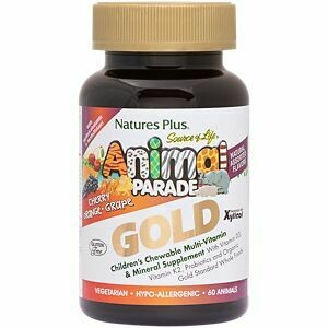 Natures Plus Animal Parade Gold Assorted Chew. 60tabs
