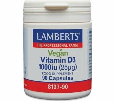 Lamberts Vegan Vitamin D3 1000iu 90caps