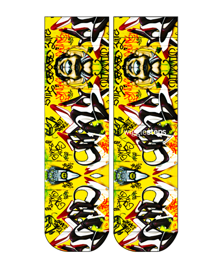 Wigglesteps Lady Socks Graffitti Art