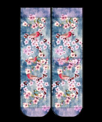 Wigglesteps Lady Socks Flowers