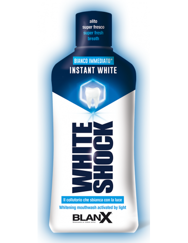 BlanX White Shock Instant White Mint Mouthwash 500ml